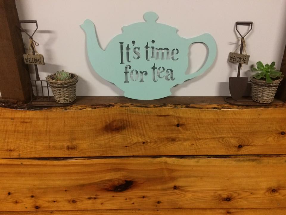 Tea Pot Sign.
